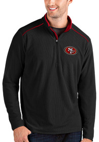 San Francisco 49ers Antigua Glacier 1/4 Zip Pullover - Black