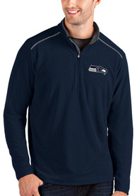 Seattle Seahawks Antigua Glacier 1/4 Zip Pullover - Navy Blue