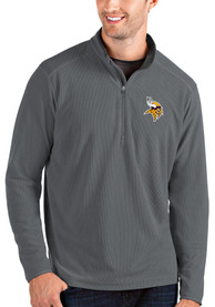 Minnesota Vikings Antigua Glacier 1/4 Zip Pullover - Grey