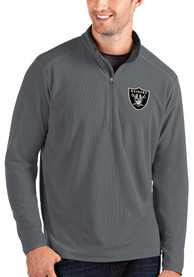 Las Vegas Raiders Antigua Glacier 1/4 Zip Pullover - Grey