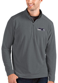 Seattle Seahawks Antigua Glacier 1/4 Zip Pullover - Grey