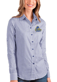 Delaware Fightin' Blue Hens Womens Antigua Structure Dress Shirt - Blue