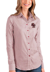 Boston College Eagles Womens Antigua Structure Dress Shirt - Red