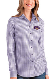 North Alabama Lions Womens Antigua Structure Dress Shirt - Purple