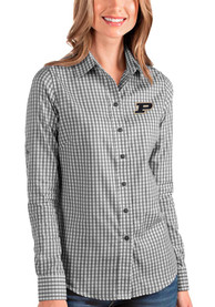 Purdue Boilermakers Womens Antigua Structure Dress Shirt - Black
