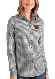 Western Michigan Broncos Womens Antigua Structure Dress Shirt - Black
