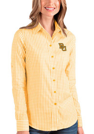 Baylor Bears Womens Antigua Structure Dress Shirt - Gold