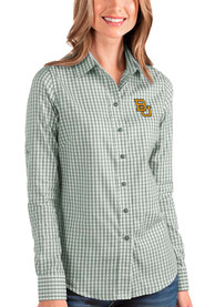 Baylor Bears Womens Antigua Structure Dress Shirt - Green