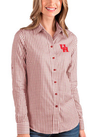 Houston Cougars Womens Antigua Structure Dress Shirt - Red
