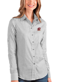 Central Michigan Chippewas Womens Antigua Structure Dress Shirt - Grey