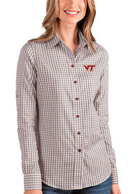 Virginia Tech Hokies Womens Antigua Structure Dress Shirt - Maroon