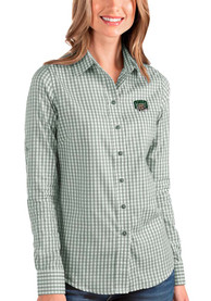 Ohio Bobcats Womens Antigua Structure Dress Shirt - Green