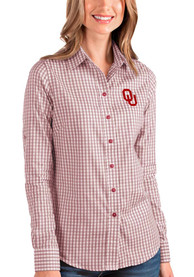 Oklahoma Sooners Womens Antigua Structure Dress Shirt - Red