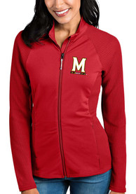 Maryland Terrapins Womens Antigua Sonar Light Weight Jacket - Red