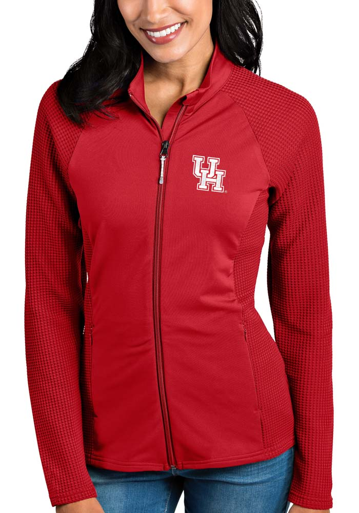 Antigua Houston Cougars Womens Red Sonar Light Weight Jacket - Image 1