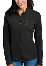 Arizona State Sun Devils Womens Antigua Sonar Light Weight Jacket - Black
