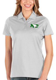 North Dakota Fighting Hawks Womens Antigua Balance Polo Shirt - White