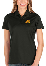 Minnesota Golden Gophers Womens Antigua Balance Polo Shirt - Black
