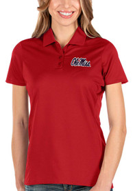 Ole Miss Rebels Womens Antigua Balance Polo Shirt - Red