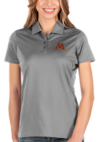 Minnesota Golden Gophers Womens Antigua Balance Polo Shirt - Grey