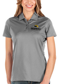 Southern Mississippi Golden Eagles Womens Antigua Balance Polo Shirt - Grey