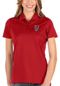 NC State Wolfpack Womens Antigua Balance Polo Shirt - Red