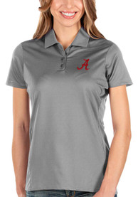 Alabama Crimson Tide Womens Antigua Balance Polo Shirt - Grey