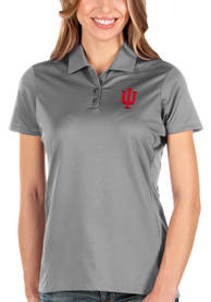 Indiana Hoosiers Womens Antigua Balance Polo Shirt - Grey