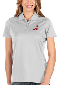 Alabama Crimson Tide Womens Antigua Balance Polo Shirt - White