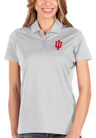 Indiana Hoosiers Womens Antigua Balance Polo Shirt - White