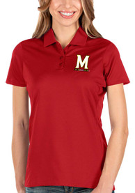 Maryland Terrapins Womens Antigua Balance Polo Shirt - Red