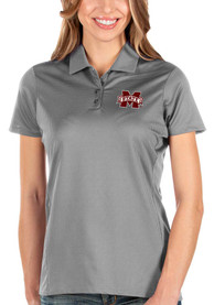 Mississippi State Bulldogs Womens Antigua Balance Polo Shirt - Grey
