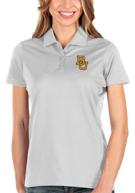 Baylor Bears Womens Antigua Balance Polo Shirt - White