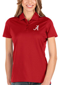 Alabama Crimson Tide Womens Antigua Balance Polo Shirt - Red