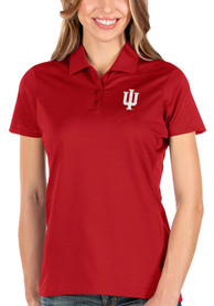 Indiana Hoosiers Womens Antigua Balance Polo Shirt - Red