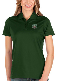 Ohio Bobcats Womens Antigua Balance Polo Shirt - Green