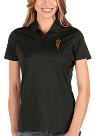 Arizona State Sun Devils Womens Antigua Balance Polo Shirt - Black