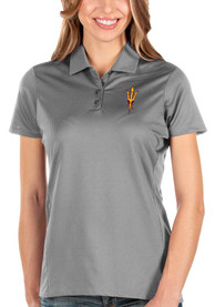 Arizona State Sun Devils Womens Antigua Balance Polo Shirt - Grey