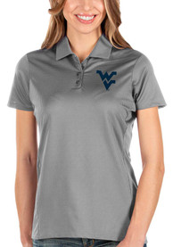 West Virginia Mountaineers Womens Antigua Balance Polo Shirt - Grey