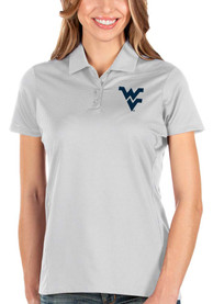 West Virginia Mountaineers Womens Antigua Balance Polo Shirt - White