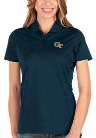 GA Tech Yellow Jackets Womens Antigua Balance Polo Shirt - Navy Blue