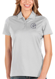 Georgetown Hoyas Womens Antigua Balance Polo Shirt - White