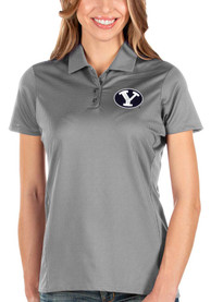 BYU Cougars Womens Antigua Balance Polo Shirt - Grey