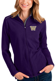 Washington Huskies Womens Antigua Glacier Light Weight Jacket - Purple