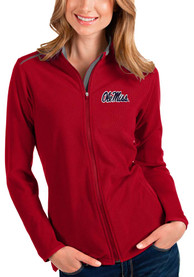 Ole Miss Rebels Womens Antigua Glacier Light Weight Jacket - Red