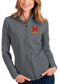 Maryland Terrapins Womens Antigua Glacier Light Weight Jacket - Grey