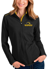 Southern Mississippi Golden Eagles Womens Antigua Glacier Light Weight Jacket - Black