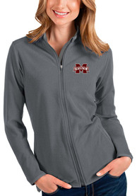 Mississippi State Bulldogs Womens Antigua Glacier Light Weight Jacket - Grey