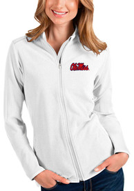 Ole Miss Rebels Womens Antigua Glacier Light Weight Jacket - White