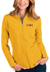 LSU Tigers Womens Antigua Glacier Light Weight Jacket - Gold